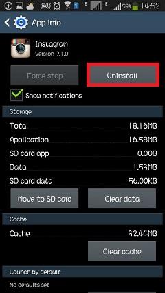 android delete app