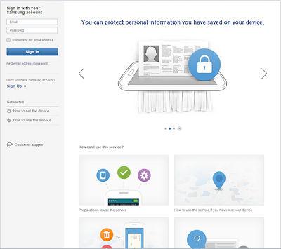 how to change my samsung account password