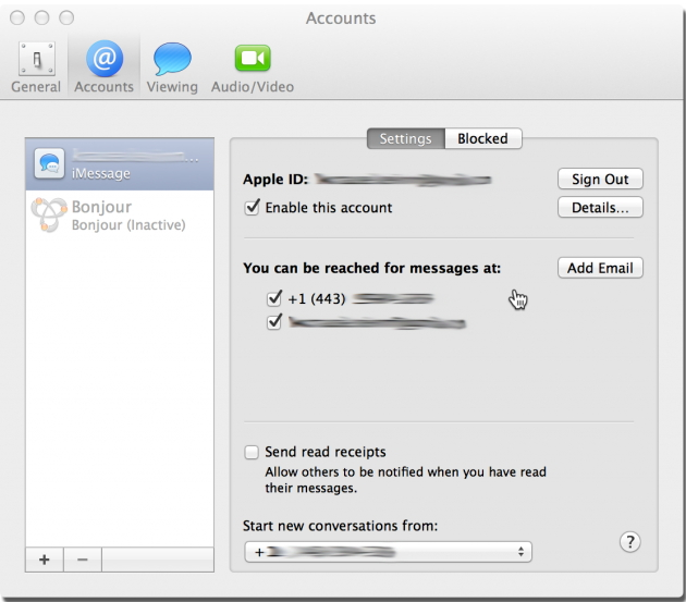 how to delete imessage account