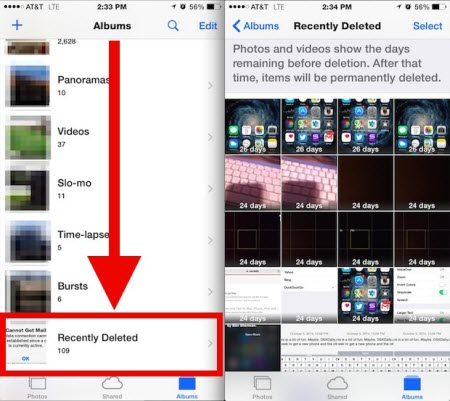 Restore Recently Deleted Photos Iphone