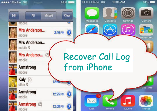 retrieve lost call history on iphone after ios 11