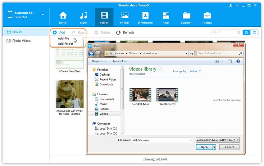 how to send video on android phone