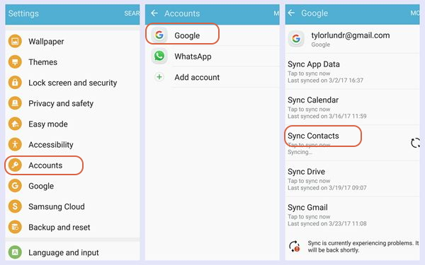 3 Ways to Backup Contacts on Samsung Galaxy S8/S8 Plus