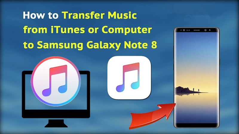 how to transfer music from android to iphone 2 ways to transfer itunes to samsung galaxy note 8 21081