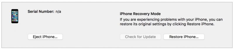 iphone recovery mode восстановить iPhone