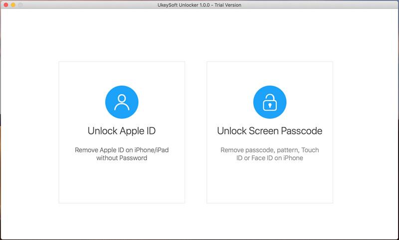 ukeysoft Unlock iPhone Экран пароля