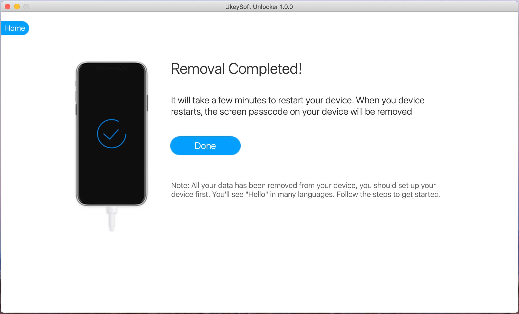Экран iPhone разблокирован