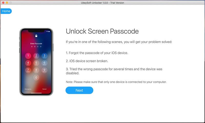 подключите iPhone к ПК, чтобы разблокировать пароль iPhone