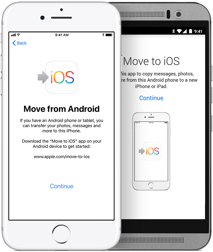 transfer content from android to iphone 8
