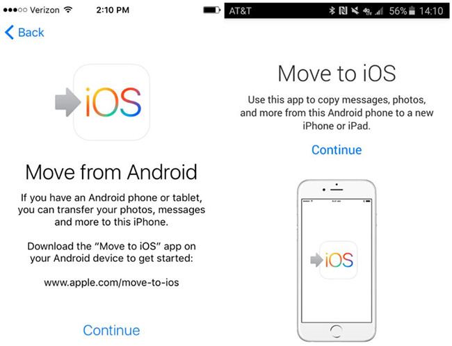 transfer iphone to android app