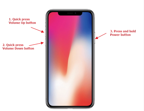 принудительно перезагрузить iPhone 11 / XR / XS / X / 8